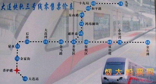 大连轻轨时刻表及大连轻轨路线图